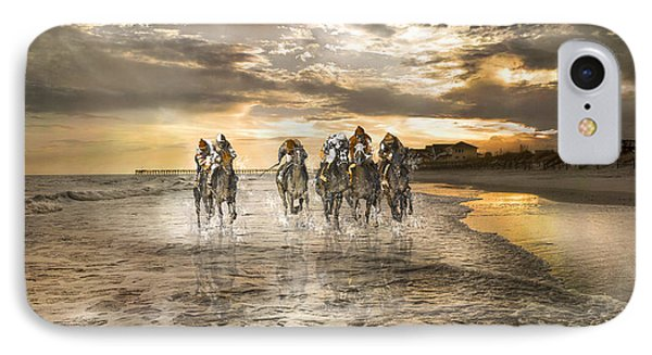 Racing Down The Stretch IPhone Case by Betsy Knapp