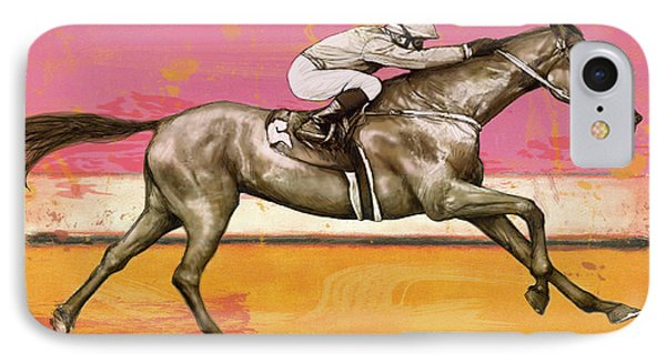 Racing Horse Stylised Pop Art Drawing Potrait Poser IPhone Case