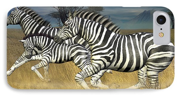 IPhone Case featuring the digital art Racing Stripes by Jayne Wilson