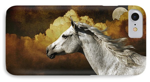 Racing The Moon IPhone Case by Karen Slagle