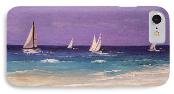 IPhone Case featuring the painting Racing The Wind by Janet Greer Sammons