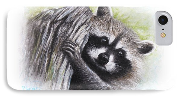 Raccoon  IPhone Case by Patricia Lintner