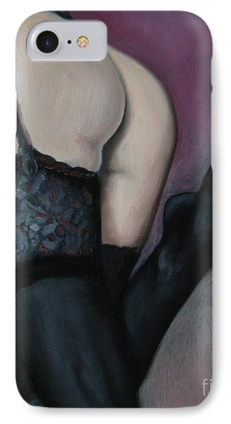 Racy Lacy Phone Case by Jindra Noewi