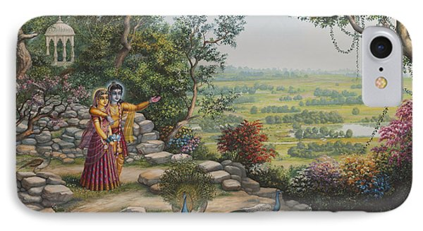 Radha And Krishna On Govardhan IPhone Case