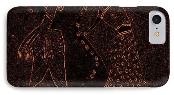Radha Krishna Dancing IPhone Case