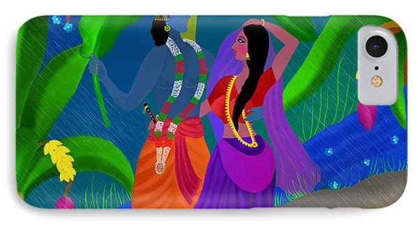 Radha Likes Rain IPhone Case