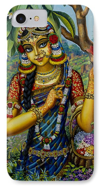 Radha On Govardhan Hill IPhone Case