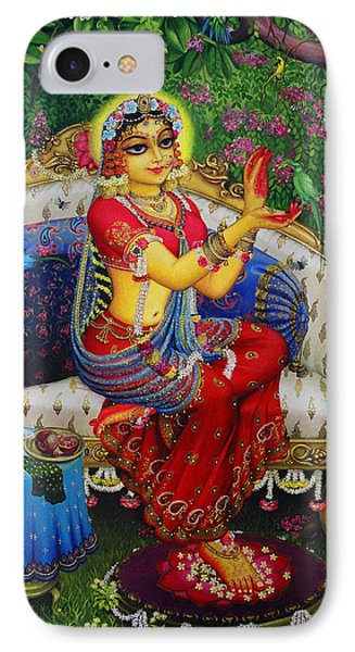 Radha With Parrot IPhone Case