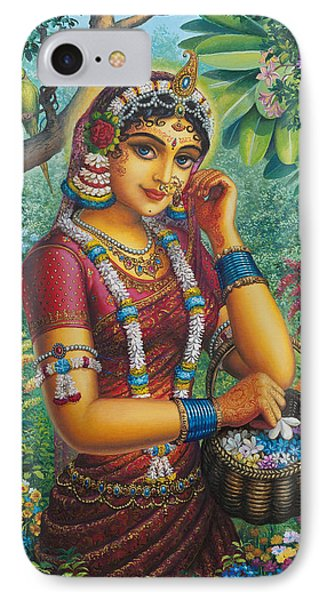 Radharani In Garden IPhone Case