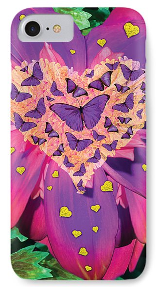 Radiant Butterfly Heart Phone Case by Alixandra Mullins
