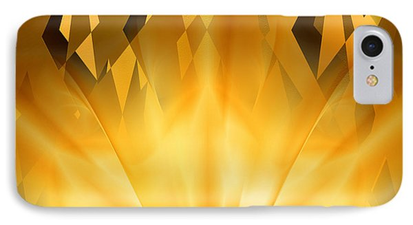 IPhone Case featuring the digital art Radiant Gold by rd Erickson