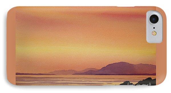 Radiant Island Sunset Phone Case by James Williamson