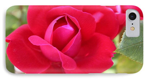 Radiant Red Rosebud Phone Case by French Toast