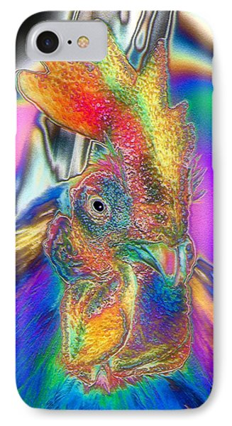 IPhone Case featuring the photograph Radiant Rooster by Patrick Witz