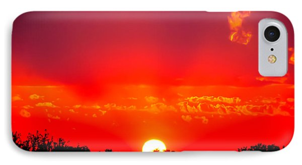 IPhone Case featuring the photograph Radiant Sunset by Dee Dee  Whittle