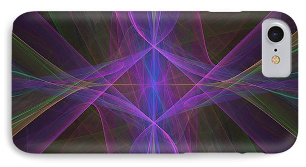 IPhone Case featuring the digital art Radiant Veils by Ursula Freer