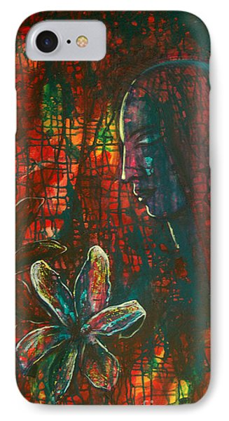 IPhone Case featuring the painting Radiating Light by Mini Arora