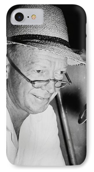 Radio Broadcaster Red Barber 1955 IPhone Case by Mountain Dreams