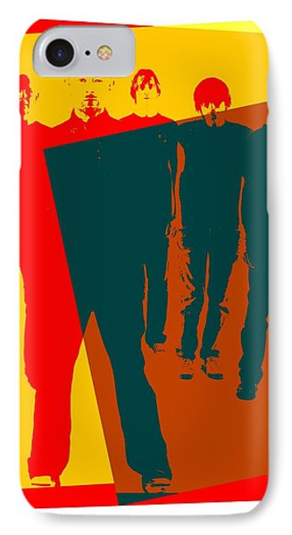 Radiohead Pop Art Poster IPhone Case by Dan Sproul