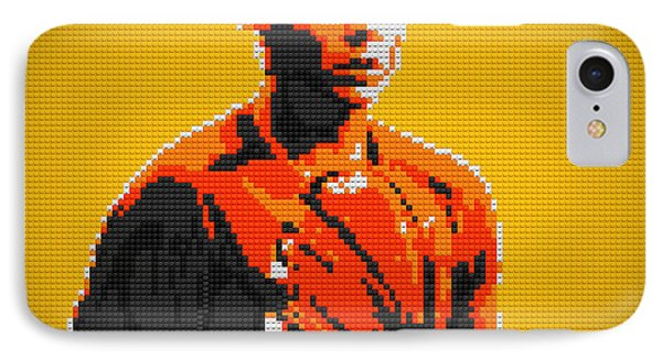 Rafael Nadal 2 Lego Digital Painting IPhone Case by Georgeta Blanaru