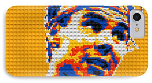 Rafael Nadal Lego Digital Painting IPhone Case by Georgeta Blanaru