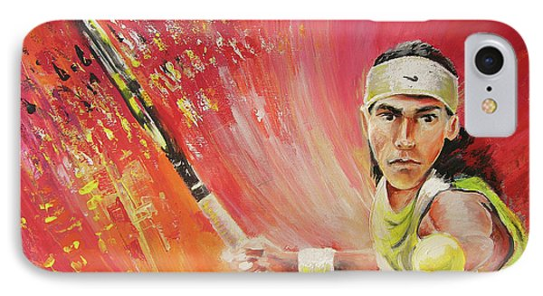 Rafael Nadal IPhone Case by Miki De Goodaboom