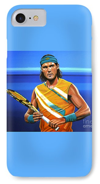 Rafael Nadal IPhone 7 Case by Paul Meijering