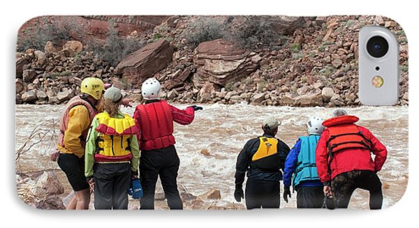 Rafters Scouting Rapids IPhone Case by Jim West