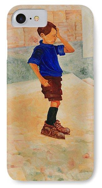 IPhone Case featuring the painting Forenza Vita Ragazzo In Via Salita Trappeto by Giovanni Caputo