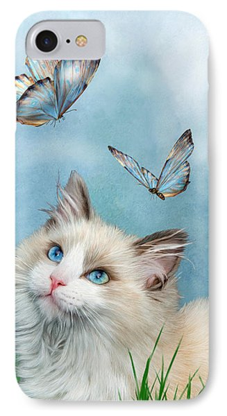 Ragdoll Kitty And Butterflies IPhone Case