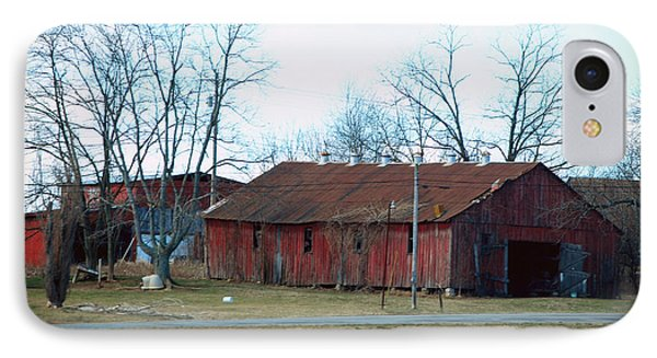 Ragged Red Shed I Phone Case by Paulette B Wright