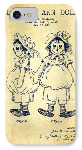 Raggedy Ann Doll Patent From 1915 - Vintage IPhone Case by Aged Pixel