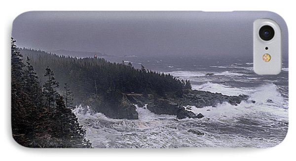 Raging Fury At Quoddy IPhone Case by Marty Saccone