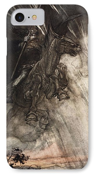 Raging, Wotan Rides To The Rock! Like IPhone Case