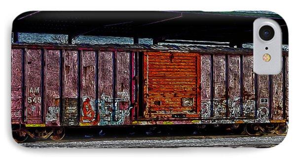 Rail Car Art Phone Case by R McLellan