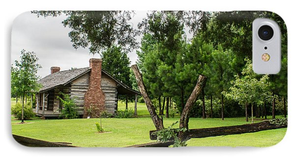 Rail Fence And Cabin IPhone Case by Douglas Barnett