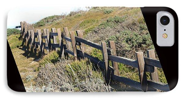 Rail Fence Black Phone Case by Barbara Snyder