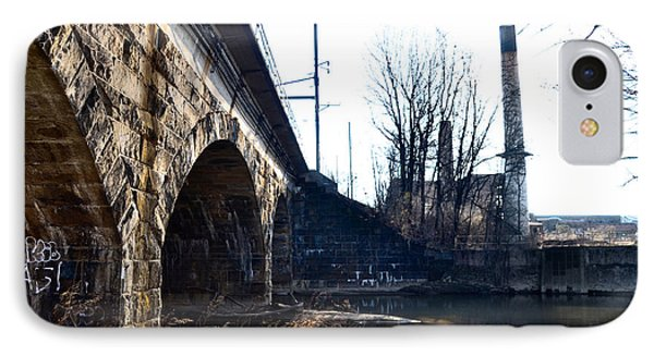 Rail Road Bridge Over The Brandywine Creek Downingtown Pa Phone Case by Bill Cannon