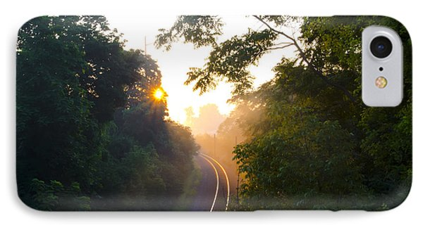 Rail Road Sunrise Phone Case by Bill Cannon