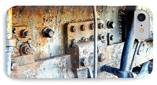 Rail Rust - Locomotive - Nuts And Bolts IPhone Case by Janine Riley