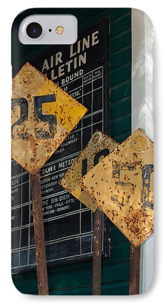 Rail Signs IPhone Case by Randy Sylvia