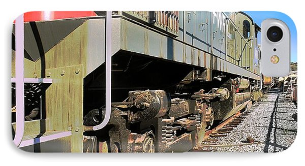IPhone Case featuring the photograph Rail Truck by Michael Gordon