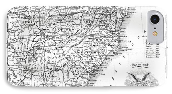 Railroad & Canal Map, 1863 IPhone Case by Granger