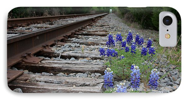 Railroad Bluebonnets IPhone Case by Jerry Bunger