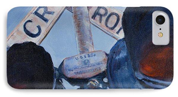 Railroad Crossing Phone Case by Janet Felts