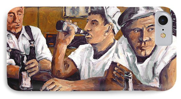 Railroad Men At The Bar By Prankearts IPhone Case by Richard T Pranke