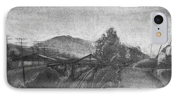 Railroad To Coal Mine. IPhone Case