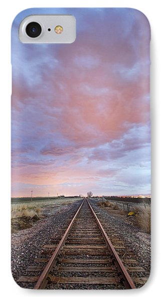 Railroad Tracks Into The Sunset IPhone Case by James BO  Insogna