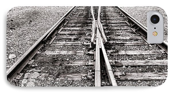 Railroad Tracks Phone Case by Olivier Le Queinec