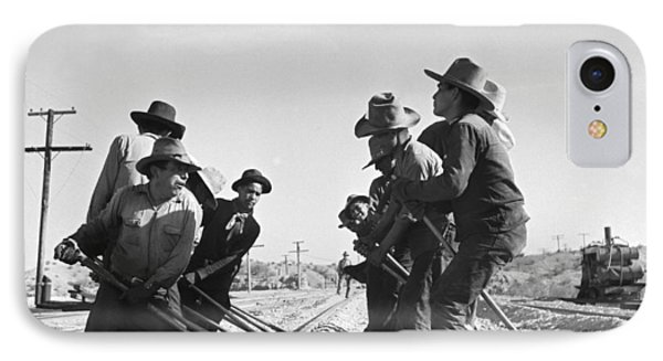 Railroad Workers IPhone Case by Jack Delano